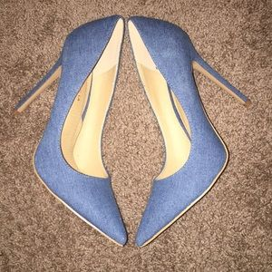 Shoe Republica LA Size 10 Denim Heels 5 inch